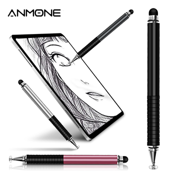 цена на ANMONE 2 in 1 Universal Touch Screen Pen For Phone Capacitive Tablet Stylus Pen for Mobile Phone Stylus Drawing Tablet Pens