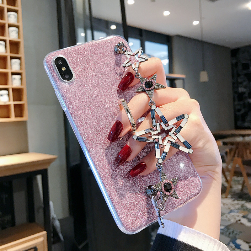 Luxury Glitter Bracelet Case For Samsung Galaxy J7 J6 J5 J4 J3 J2 J1 Mini Prime Ace Core Pro Plus 2018 2017 2016 Eu USA Covers in Phone Bumpers from Cellphones Telecommunications