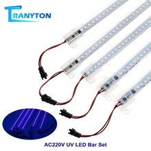 5PCs UV LED Bar Light AC220V 50cm 72LEDs 2835 Transparent Cover Strip for Party Stage Bar Wall Decoration Disco Night Lamp