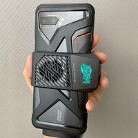 Capa para celular asus rog 2  case de tpu macio  borda oca para celulares pode adaptação ventilador de refrigeração