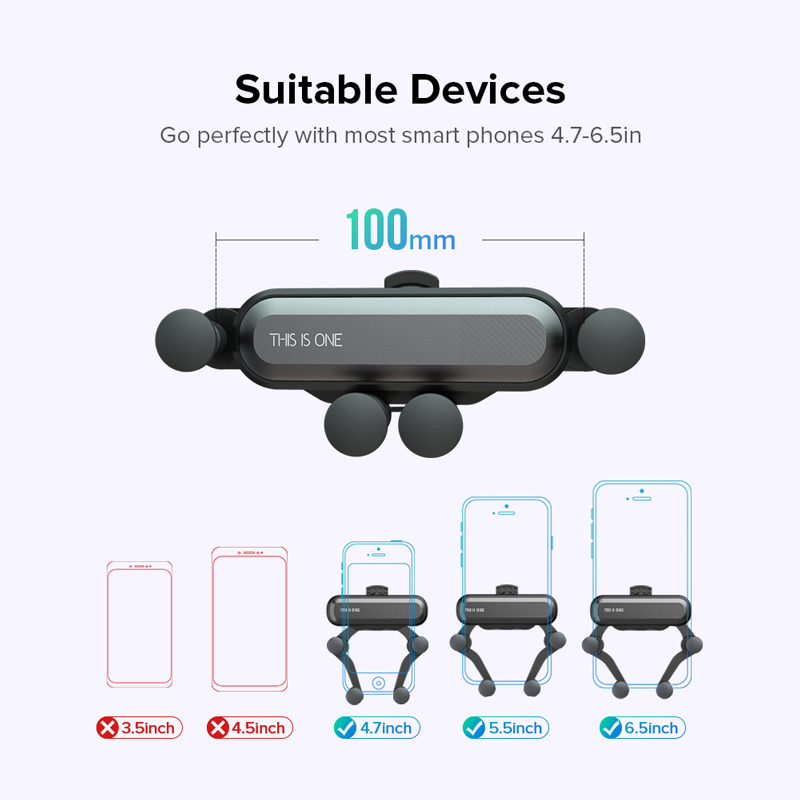 H5461ce1f743845bda4d62b21a9985f59Y Gravity Car Holder For Phon GPS Stand For iPhone XS MAX Xiaomi