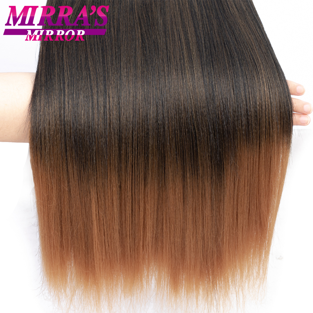 """Image 2 - Mirra's Mirror Jumbo Braids Hair 20""""26"""" T1B/Brown Synthetic Braiding Hair Ombre Crochet Braids Pre Stretched Hair Extensions"""