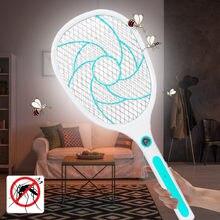 Mata moscas novo tipo de led recarregável e iluminação usb de carregamento fly swatter mosquiteiro mata mosquito elétrico