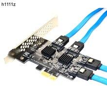 H1111z adicionar no cartão sata3 pci e/pcie/pci express sata 3 controlador multiplicador sata cartão/expansão pci e pcie x1 sata porta adaptador