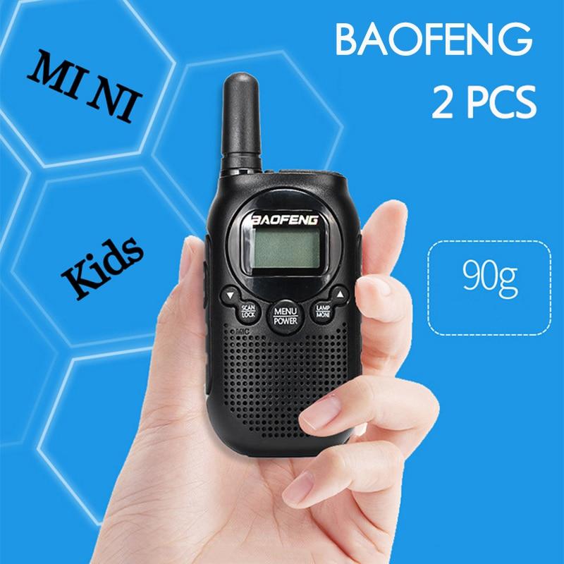 2 PCS New Baofeng Kids Portable CB Walkie Talkie Two Way Radio Comunicador Transceiver PC Programming  Mini Woki Toki Interphone