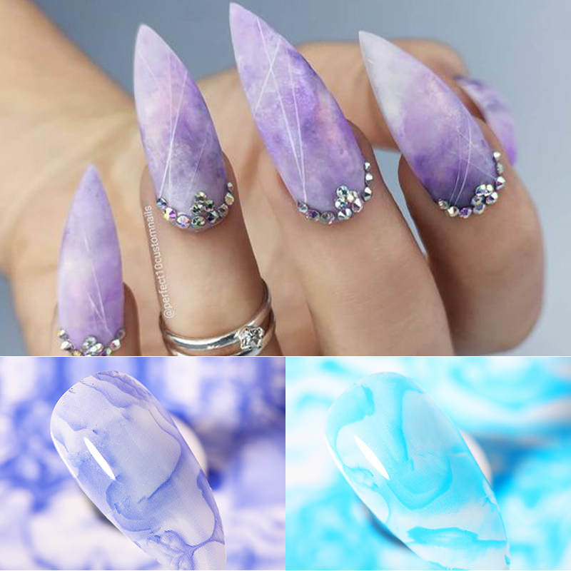 4 100cm Nail Foils Stickers Marble Series Paper Pink Blue Foils Bright Marble Nail Art Transfer Sticker Diy Design Decoratio Stickers Decals Aliexpress