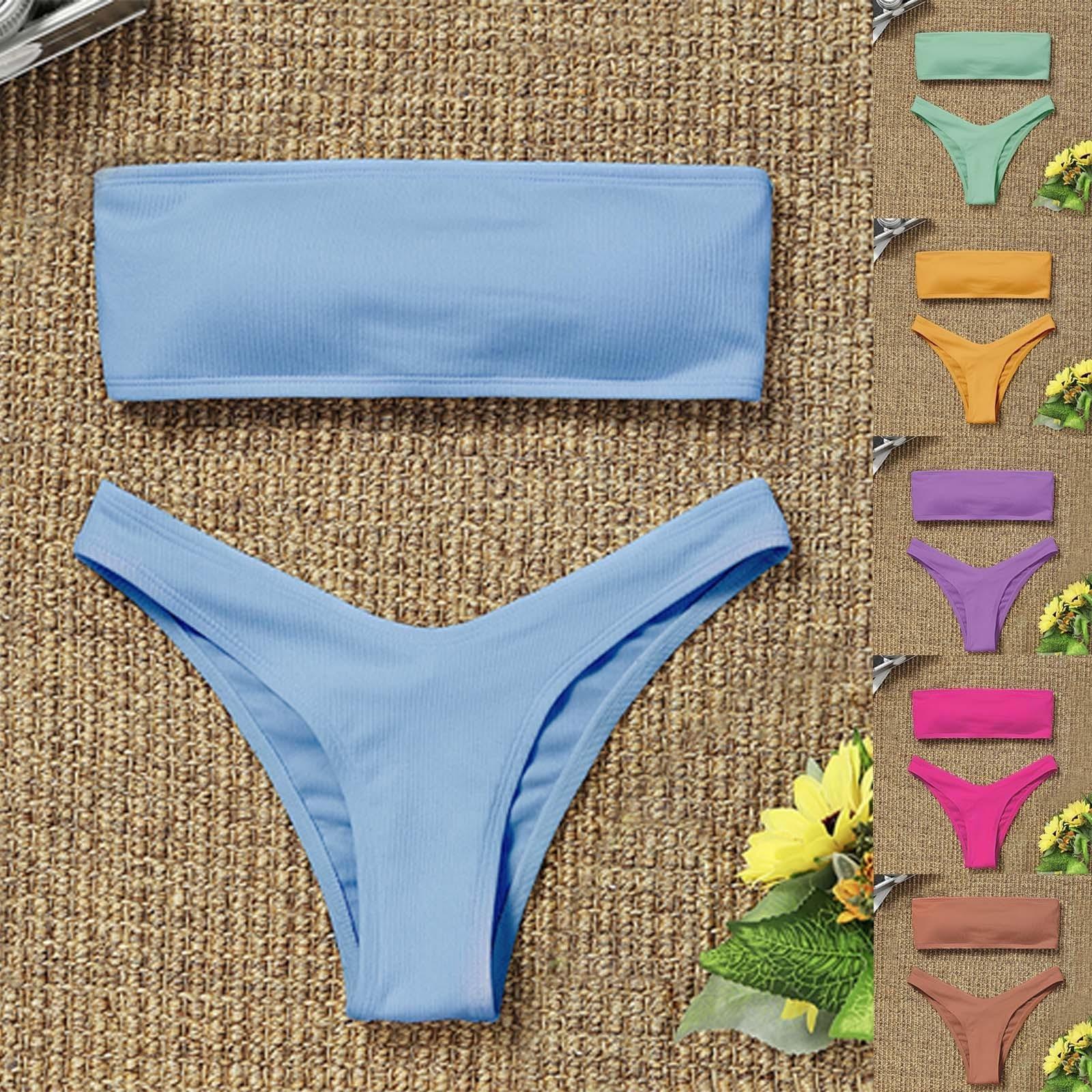 Livraison rapide femmes Maillot De Bain femmes 2021 Bikini taille haute ventre contrôle solide séparé Maillot De Bain Sexy Maillot De Bain Biquini