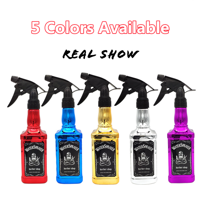 barbeiro ferramentas de cabelo pulverizador água retro
