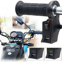 Usb-Charger Motorcycle-Handlebar Heated-Grips Accessories Voltage-Display Hot Electric