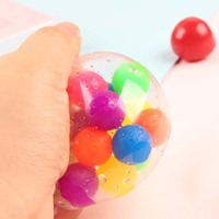 Funny Anti Stress Ball Grape Squeeze Discolor Mood Autism Kids&Adult Play Vent Toys For Gift