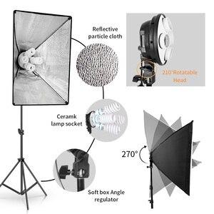 Image 3 - Photo Studioสี่เหลี่ยมผืนผ้าการถ่ายภาพกล่อง 8 LED 20Wแสงการถ่ายภาพชุด 2 2 กล่องนุ่มพกพากระเป๋าสำหรับกล้อง