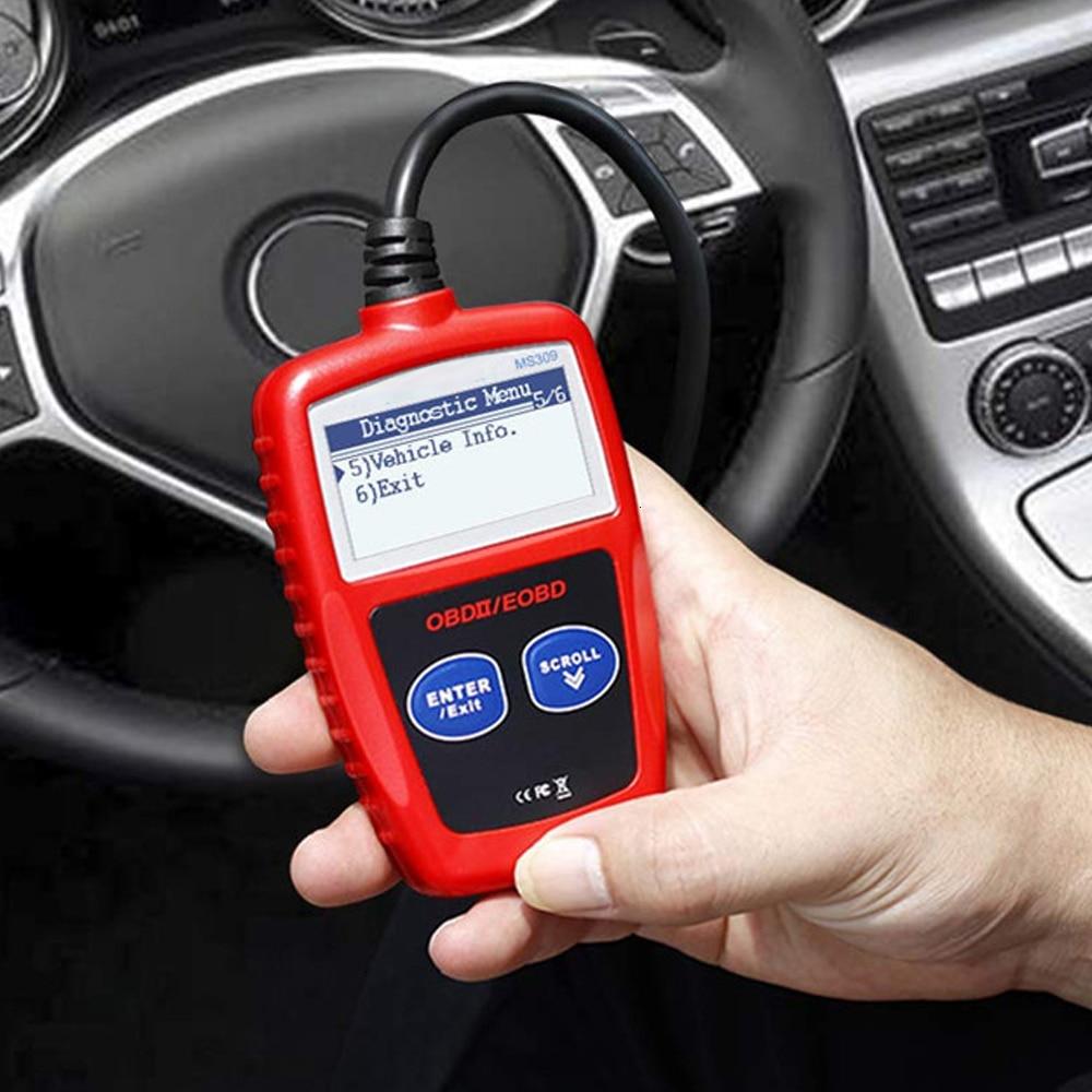 Универсальный MS309 OBD II считыватель кодов Сканер Авто диагностические инструменты наборы автомобильный CAN АВТОБУС двигатель код ошибки риде...