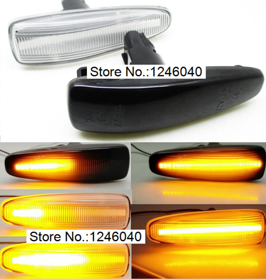 2 X LED Side Marker Amber 18 SMD CanBus Error Free Smoke Indicator Light For E65 E66 E67