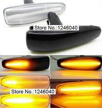 2pcs Dynamic LED Side Marker Turn Signal Repeater flowing flash light fit For Mitsubishi Lancer Evolution X Outlander  Mirage