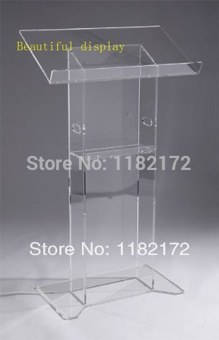 Free Shipping Hot Sell Custom  Podium / Lectern Acrylic Lectern