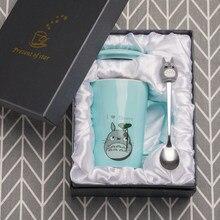 Tasses Totoro créatives en céramique, tasse de thé, café au lait, tasse de dessin animé chaton/Totoro, tasse de jus de fruits pour la maison et le bureau