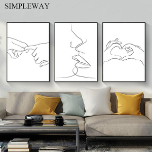 Wall Art Picture Abstract Kiss