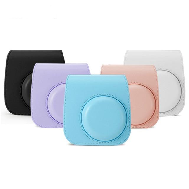 For Fujifilm Instax Polaroid mini11 mini 11 Handbags Shoulder Camera Protective Case Colorful Patterns Leather Camera Bag