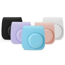 สำหรับFujifilm Instax Polaroid Mini11 Mini 11 กระเป๋ากล้องป้องกันกรณีที่มีสีสันรูปแบบหนังกระเป๋ากล้อง