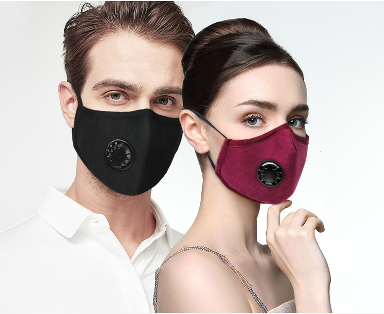 Anti Haze Mouth-muffle Breath Cotton Breathable Reusable Anti Bacteria PM2.5 Activated Carbon Filter Face Mask Anti-Dust
