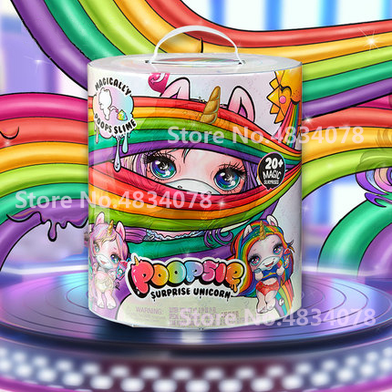 New Decompression Toy Squeezing Music Unicorn Jar Sparkle Splitter Poopsie Slime Unicorne Soft Relief Stress Squishies Squeeze