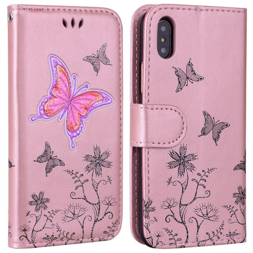 Butterfly Phone Case For Samsung Galaxy J3 J5 J7 J2 Prime A3 A5 2017 2016 2015 S9 S8 Plus Note9 Flip Leather Wallet Cover P04E