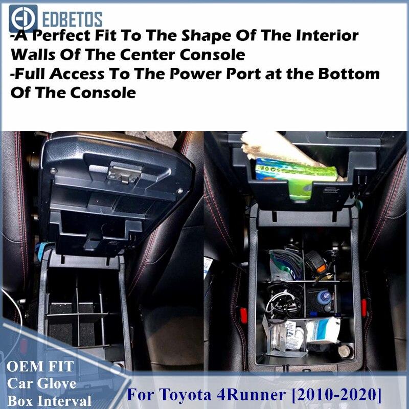 Car Glove Storage Box For Toyota 4Runner 4 Runner 2011 - 2018 2019 2020 Interior Accessories Car Co-Pilot Storage Cosmetic Box