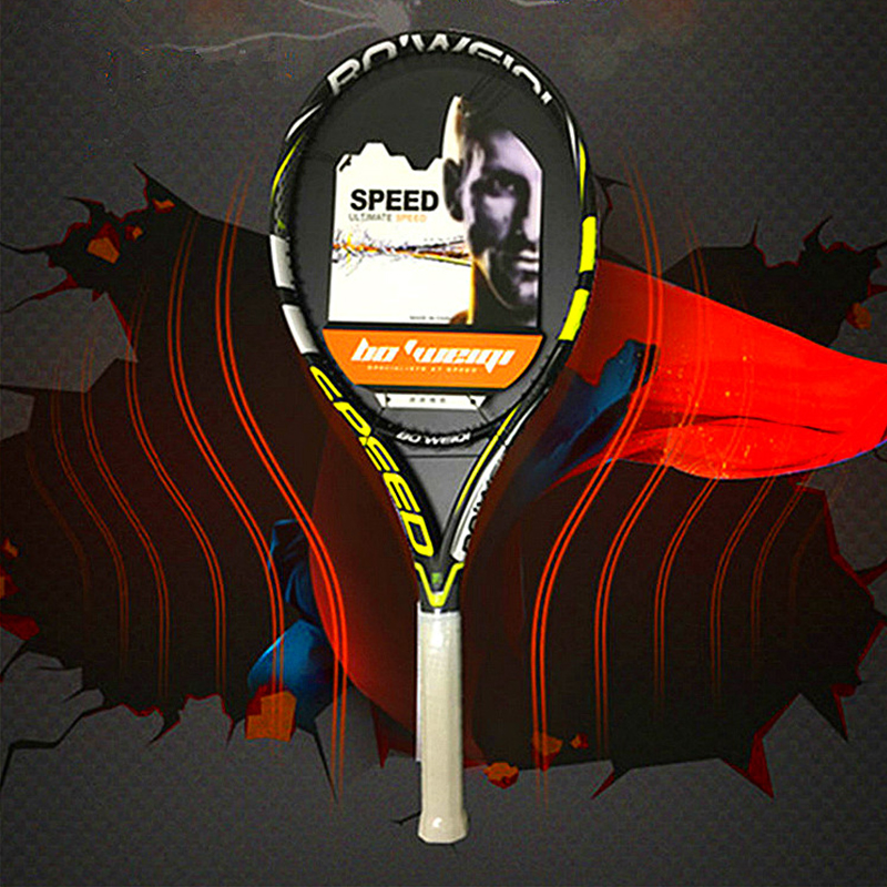 Professional Full Carbon Training Tennis Racket With String Bag Technical Type Rackets For Adult Sports Competition Women's Men