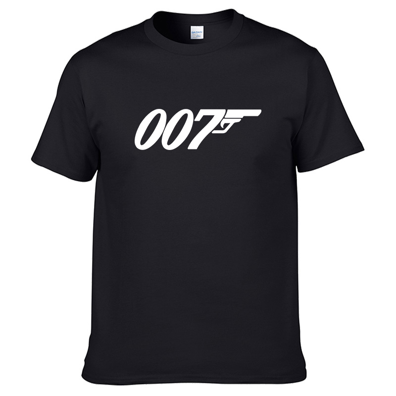 007 James Bond Cool Simple Clothing High Quality New Affordable 100% Cotton T-shirt Cold Cool Wild Summer Simple Short Sleeve