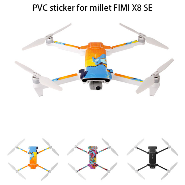 Drone Waterproof PVC Sticker Decal Skin Cover Scratch Protection Film for XIAOMI FIMI X8 SE