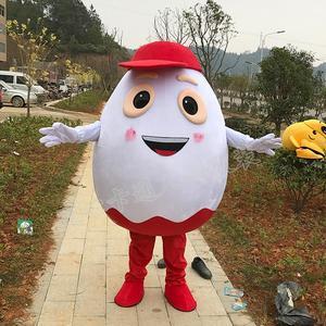 Image 1 - Dostosuj białe jajko maskotki białe jaja kostiumy maskotki z czerwony kapelusz Halloween karnawał kostiumy maskotki na sprzedaż szybka wysyłka
