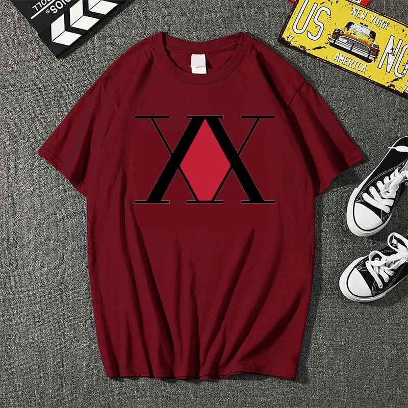 Купить футболка hunter x мужская с рисунком милый мультяшный топ модная