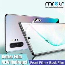 Hidrasyon Film Samsung Galaxy S10 S8 S9 artı S10E ekran koruyucu kapak değil temperli cam Samsung not 8 için 9 10 artı Pro