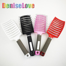 4color Hair Brush for Salon Hairdressing Styling Tools Massage Comb Curly Detangle Head  TipTap