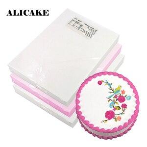 Papel comestível da folha da bolacha de 100 pces engrossar 0.3/0.65mm bolo de impressão decoraion ferramentas de cozimento digital foto impressão bolacha a4 arroz