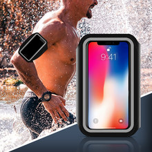 Waterproof Sports Armband Phone Case For iPhone 6 7 8 X For Samsung For Huawei Universal Sport Phone Case Arm Band Running(China)