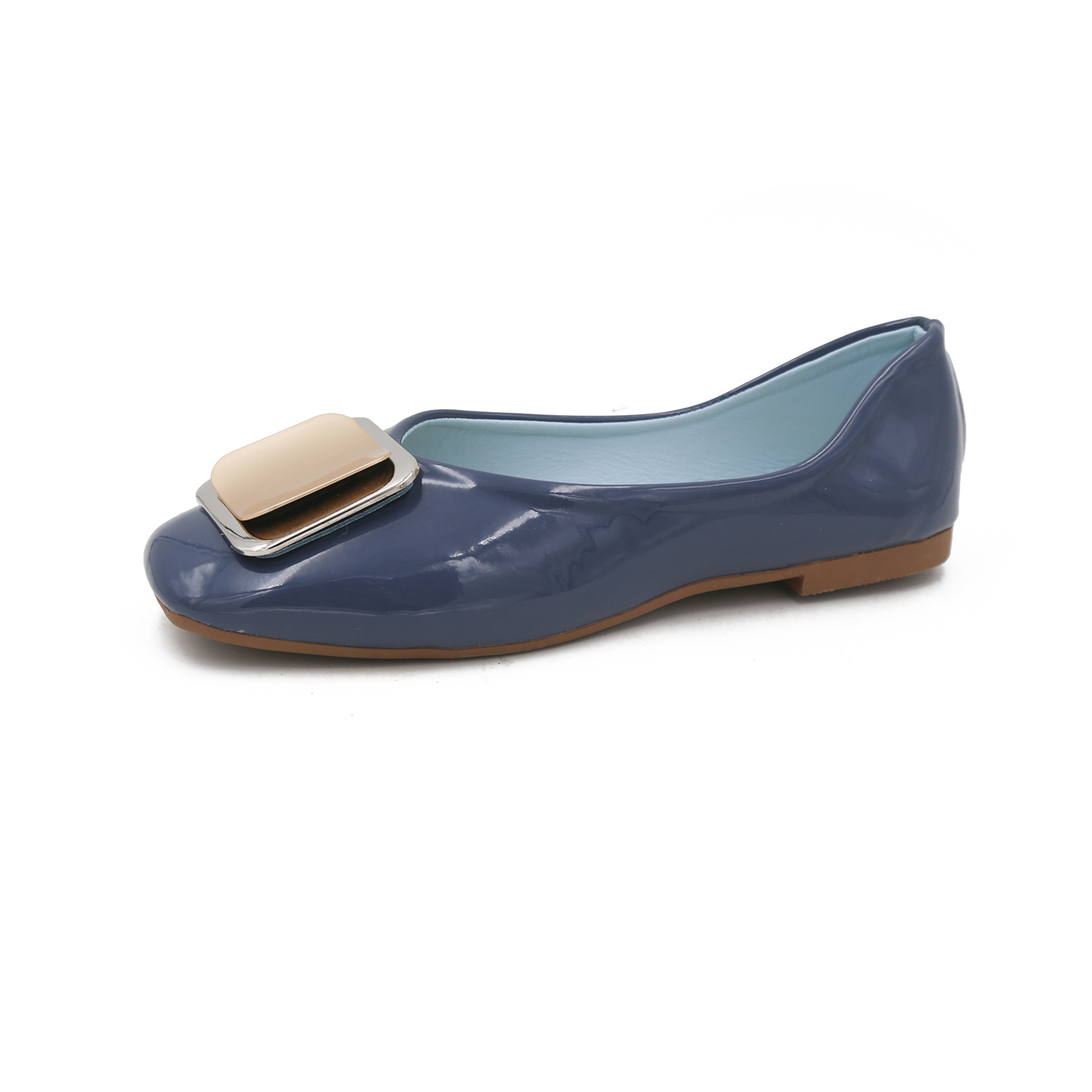 Women's Flats Decoration Autumn Fashion Toe Metal Casual Square All-Match Lazy-35-39