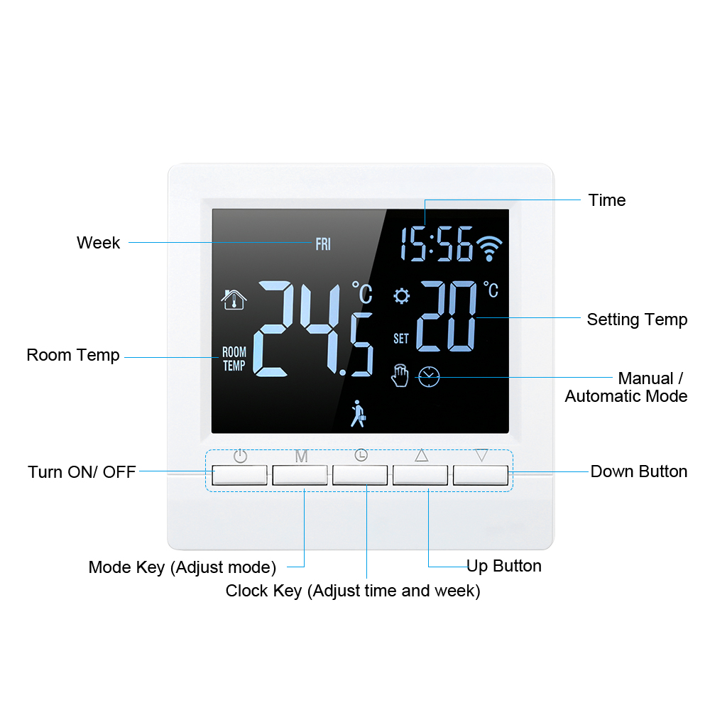 Hot Wi-Fi Smart Thermostat Digital Temperature Controller APP Control Programmable Electric Floor Heating Thermostat For Home Of