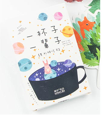 P208- One Cup Paper Postcard(1pack=30pieces)