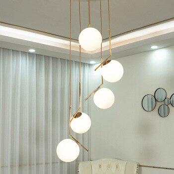 Duplex Villa Lobby Anhänger Lampe Moderne Nordic Spiral Stair Hängen Licht Esszimmer Wohnzimmer Hotel Kronleuchter Lampe Enthalten LED