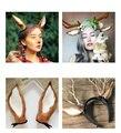 1 пара длинных оленьих рогов, повязка на голову с ушками оленя, маскарадное платье для костюмированной вечеринки, рождественские украшения ...