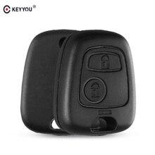 KEYYOU 1 шт. сменный Футляр для ключей для ключ Citroen Крышка для Toyota Aygo 2 кнопки дистанционного брелок в виде ракушки для peugeot без лезвие без логотипа