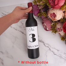 Personalized Birthday Party Table Number Sticker Customized Name and date Wine Bottle Labels Wedding Anniversary Party Decor