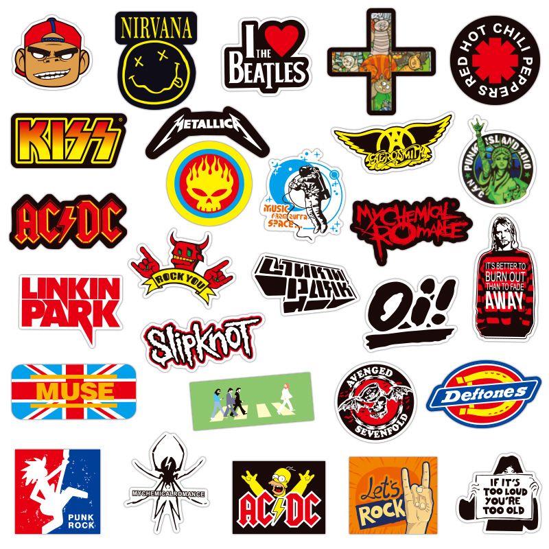 100 Pcs Random Surprisel Stickers Doodling Travel DIY Stickers Bike Scooter Bathroom GuitarOn The Car Motorcycle Luggage Laptop