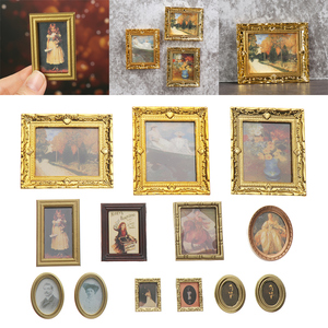 1PC Vintage Multi Decor Photo Frame Art Wooden Wedding Mini Pictures Frames DIY Family Home Decor Desktop Ornament Card Holder
