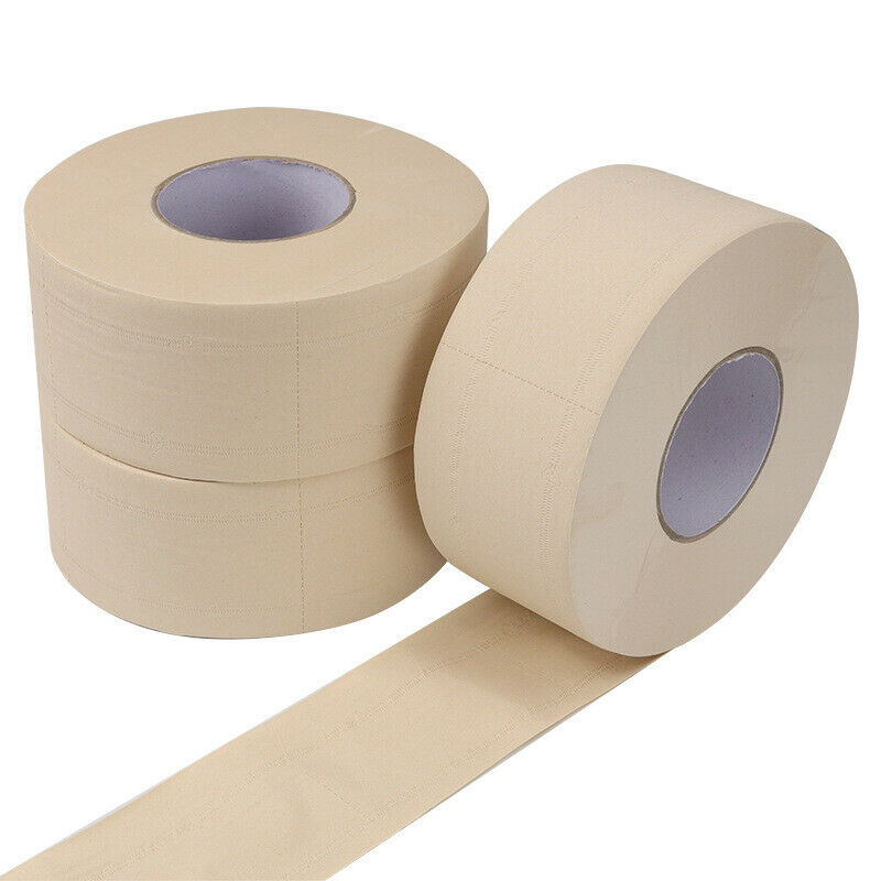 6 Rolls Toilet Paper Bulk Bath Tissue Bathroom Natural Soft 4 Ply 500g / Roll