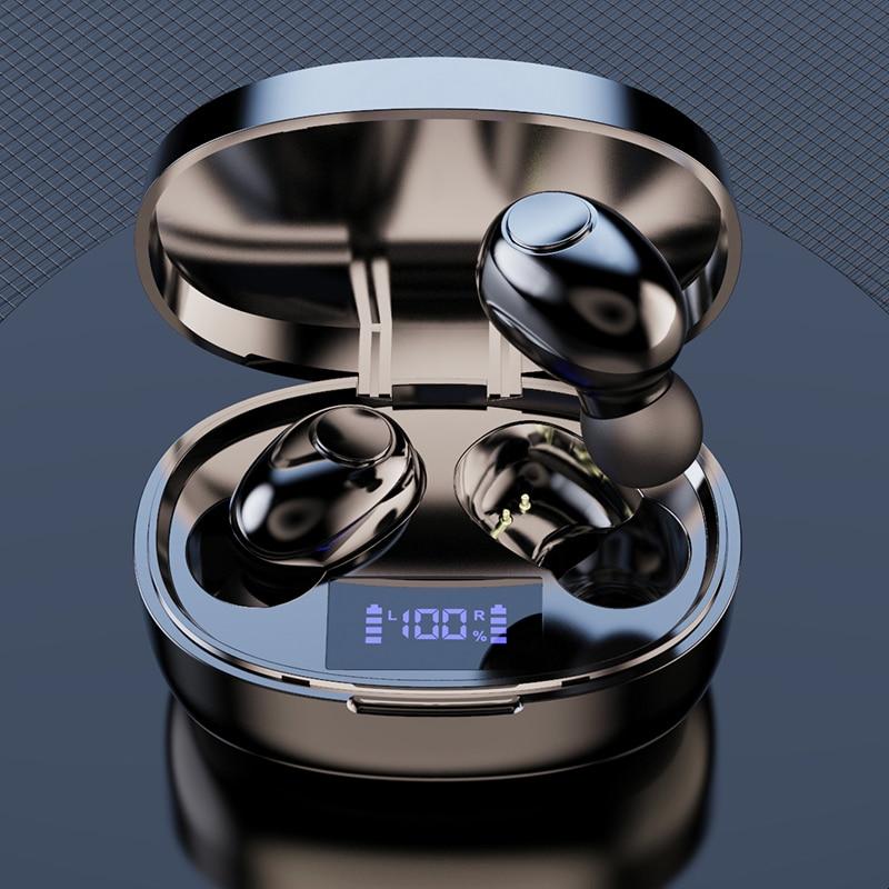 Беспроводные наушники с шумоподавлением, 2200 мАч, зарядная коробка, спортивные водонепроницаемые Bluetooth 5,1, беспроводные наушники для всех см...