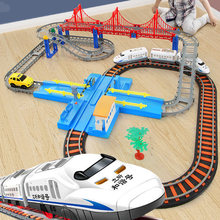 Electric Train Toy Rails Remote Control Train Model Railway Set Trains High Speed Rails RC Trains Set Simulation Model Toy Set(China)