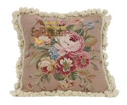 vintage pillow covers decorative flower  handmade cusions for bedroom sofa coffeshop luxury  yk210-20 16x16 gc165neeyg8