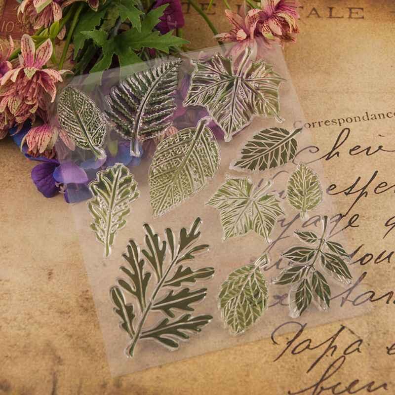 עלה סיליקון ברור חותם חותמת DIY רעיונות הבלטות אלבום תמונות דקורטיבי נייר כרטיס קרפט אמנות בעבודת יד מתנה